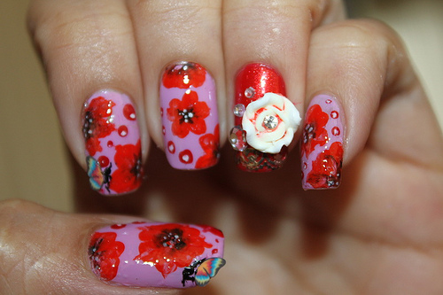 Watermelon nails design tutorial nail designs mag amazing nail designs watermelon nails design tutorial prinsesfo Images