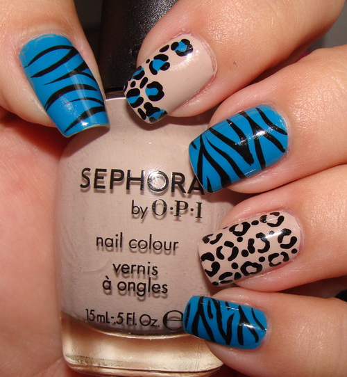 beige and blue nail art designs blue nail designs for prom