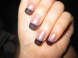 black and pink french nail 300x225 black and pink french nail