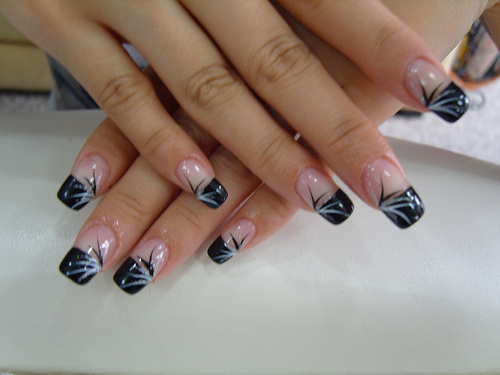 black french nails tips1 French Nail Designs