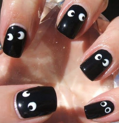 black nail art ideas Nail Art Ideas