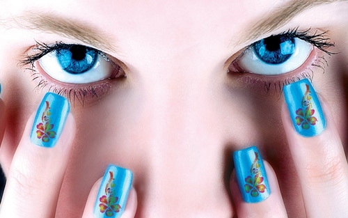 blue nail art designs ideas Nail Art Designs