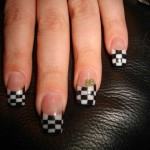 Checkered Flag French Nail