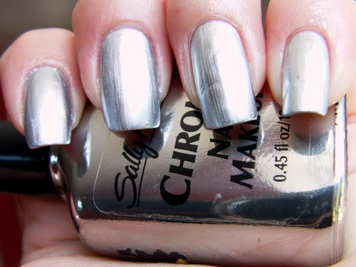 chrome nail deasigns toe nail art ideas