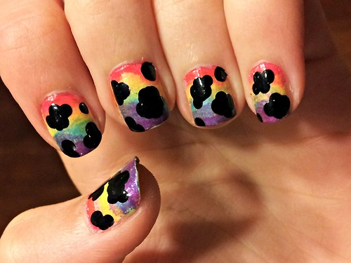 clouds nail art ideas Creative Nail Design4
