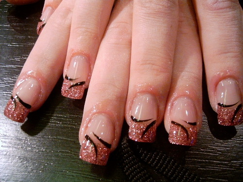 cool simple nail designs brown cute simple nail designs