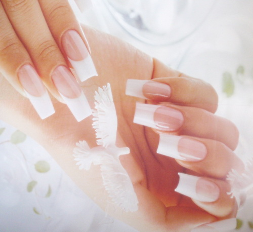 french natural nail Colored Nail Tips