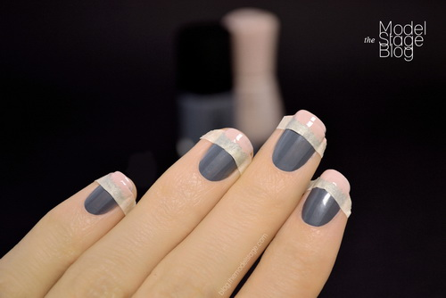french tip nails with design1 French Nail Tips