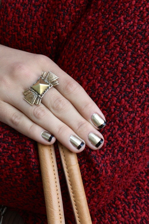 gold and black nail designs1 Manicure Nail Wraps