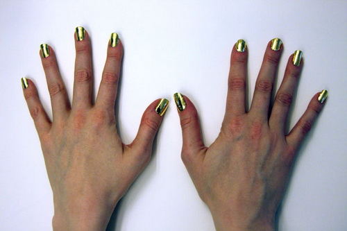 gold nail wraps ideas Nail Art Ideas