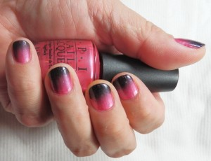 gradient pink and black nail designs tips1 300x230 gradient pink and black nail designs tips