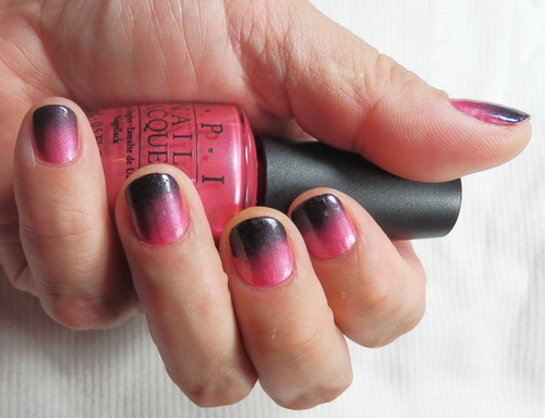 gradient pink and black nail designs tips1 Manicure Nail Wraps