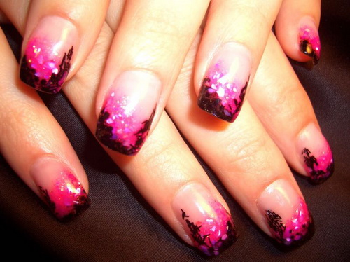 pretty airbrush designs for nails1 Gel Nail Wraps