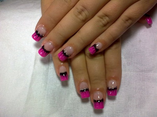 purple and black cool nail designs Cool Nail Designs