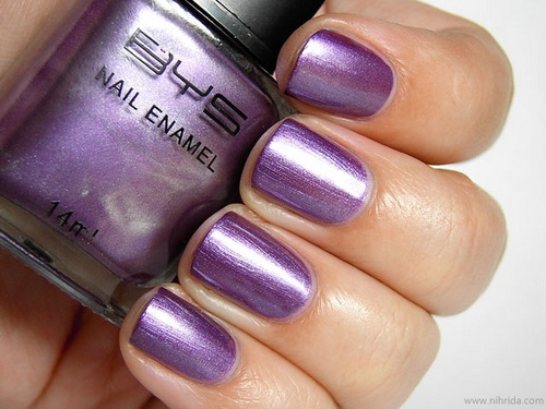 purple nail polish designs1 Metallic Nail Polish