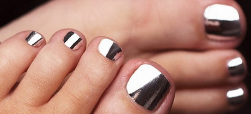 toe chrome nail designs Chrome Nail Polish
