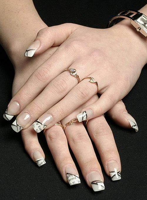White french nail designs prinsesfo Choice Image