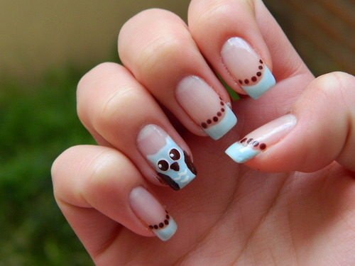 white nail designs ideas Purple Nail Designs 6