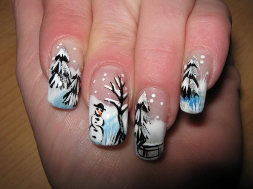 winter snow nail art Migi Nail Art