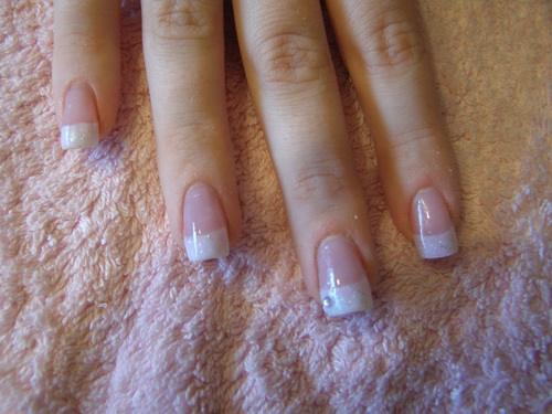 Fabulous Acrylic Nails White Tips with Glitter 500 x 375 · 92 kB · jpeg