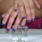 Blue Colored Nail Tips