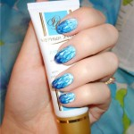 Blue Designs for Short Nail