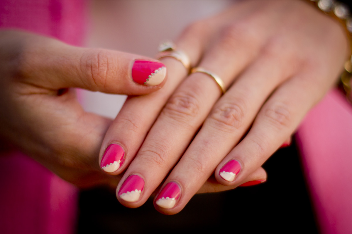 Easy pink nail tips prinsesfo Image collections