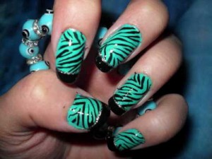 green and black cute nail designs 300x225 green and black cute nail designs