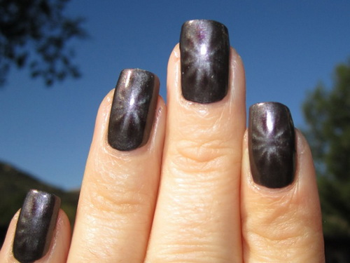 metallic sunburst nail Metallic Nail Polish