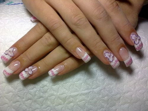 Pink nail designs for prom prinsesfo Gallery