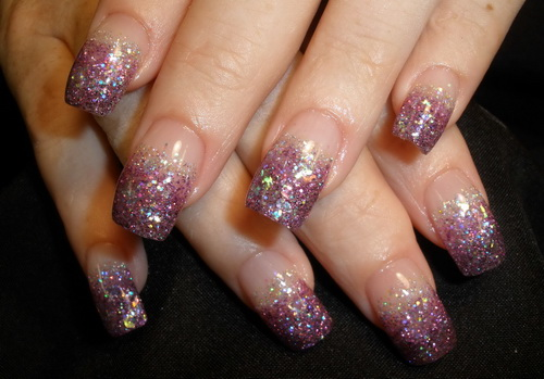 purple glitter nail art Making Glitter Nail Art