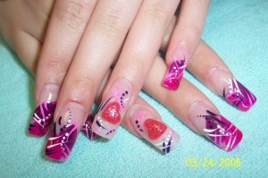 purple with love nail designs 300x199 purple with love nail designs
