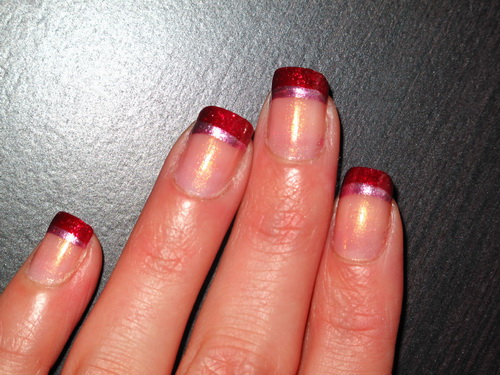 red colored nail tips Colored Nail Tips