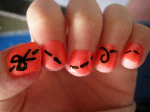 simple orange cute nail designs cute simple nail designs