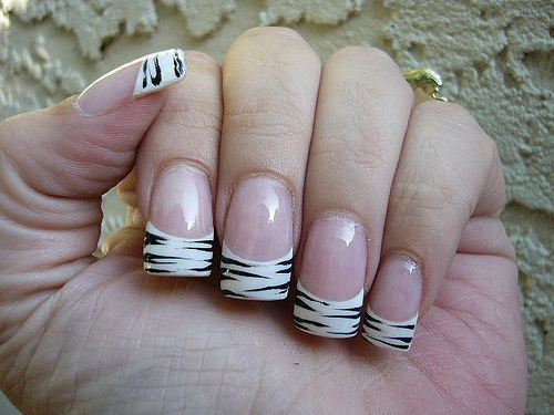 White acrylic nail tips prinsesfo Images