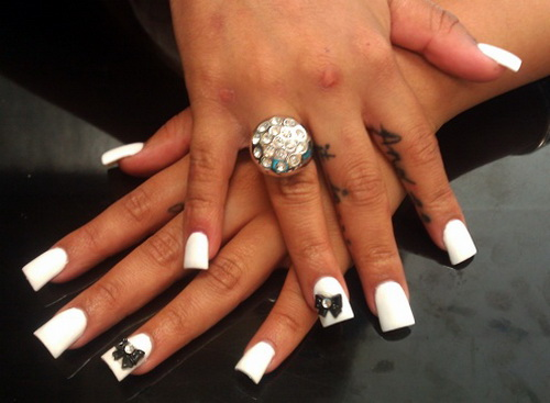 White and black nail tips prinsesfo Choice Image