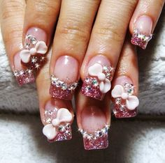 Cute 3D Nail Art Designs Simple Flower Nail Art 1