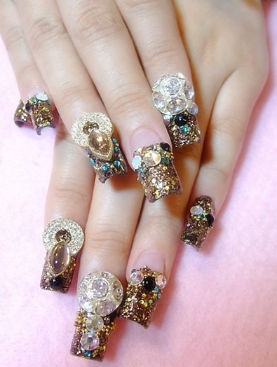 Glamourous 3d nail art designs prinsesfo Image collections