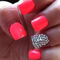 Diamond Nails6 Diamond Nail Designs & Ideas