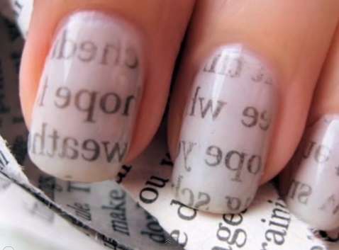 newspaper nail art tutorial Newspaper Nail Art Tutorial