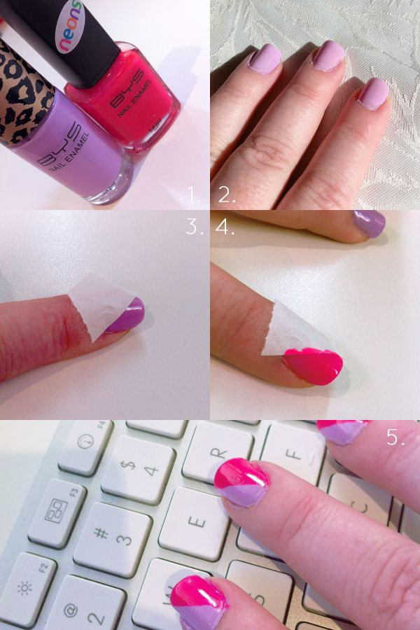 DIY Nail Art 2 DIY Nail Art with Scotch Tape!