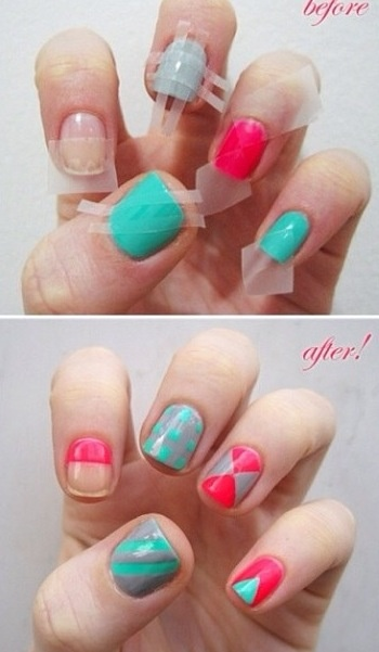 DIY Nail Art 4 DIY Nail Art with Scotch Tape!