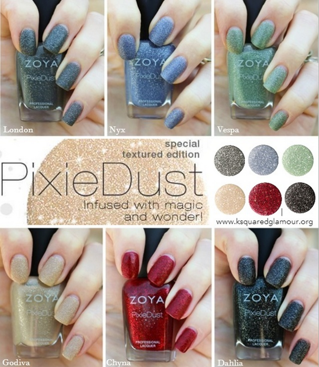 zoya pixe dust collection Top Nail Polish Trends Revived!