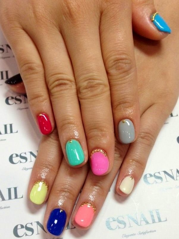 Colorful Nail Designs 7 3 Trendy and Colorful Nail Designs