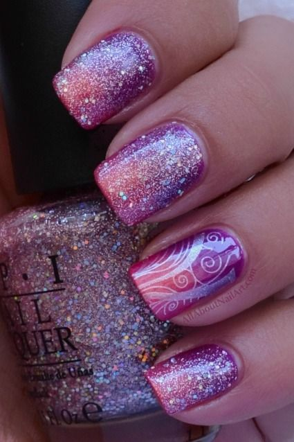 Cute nail designs with pink and purple cute pink fashion nails pink and purple nail design nails view images prinsesfo Images