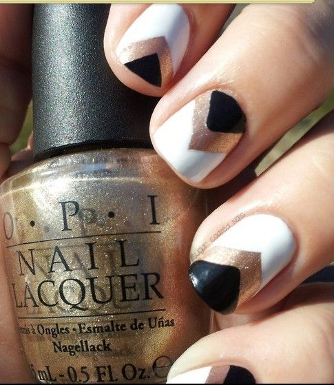 Black and Gold Nail Designs 7 Simple Black and Gold Nail Designs You Can Do Yourself!