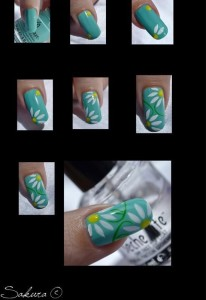 Simple Flower Nail Art 2 206x300 Simple Flower Nail Art 2