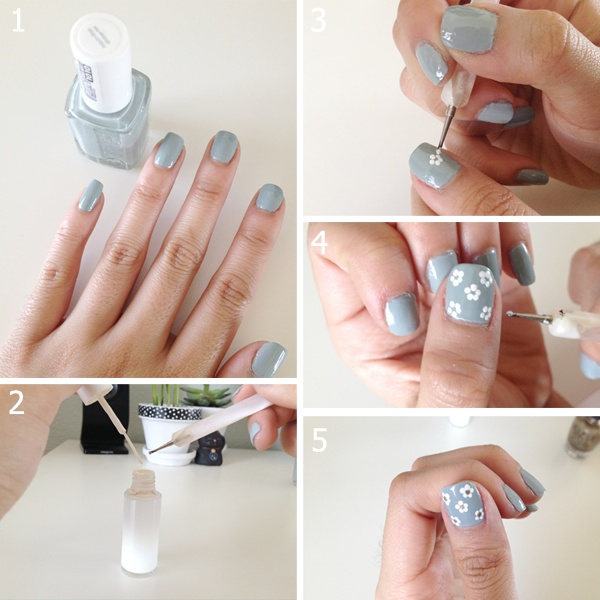 Simple flower nail art 4 prinsesfo Choice Image