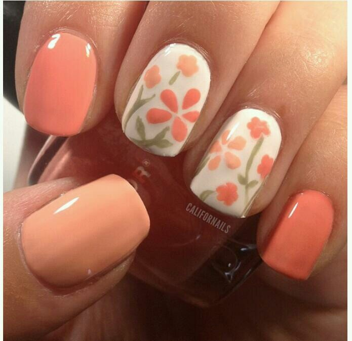 Simple Flower Nail Art 5 Simple Flower Nail Art 1