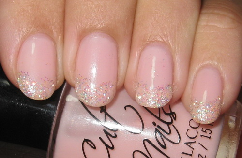 Image result for glittery nail tips